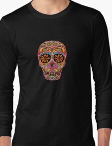 Day of the Dead Sugar Skull shirt Long Sleeve T-Shirt