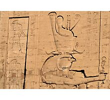Hieroglyphs at Edfu temple in Egypt Photographic Print