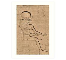 Horus god hieroglyph 2 Art Print