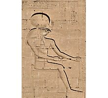 Horus god hieroglyph 2 Photographic Print