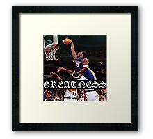 KOBE Greatness Framed Print