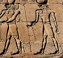 Pharaoh and god hieroglyph by rhallam