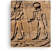 Pharaoh and god hieroglyph Canvas Print