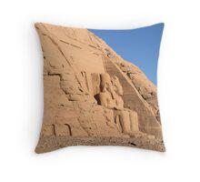Abu Simbel Temple Throw Pillow