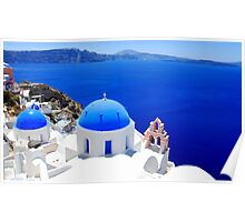Santorini's Magnificent View Poster