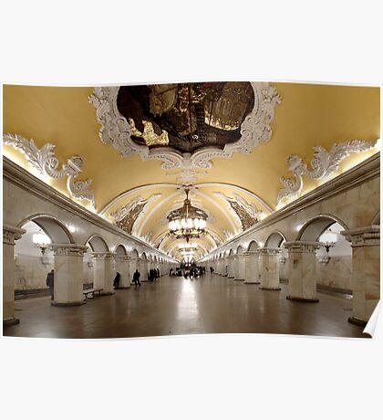 Komsomolskaya Metro Station, Moscow Poster