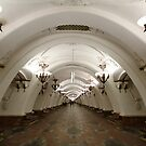 Arbatskaya Metro Station, Moscow by offwhitedog