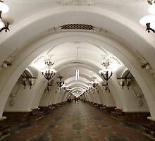 Arbatskaya Metro Station, Moscow by offwhitedog