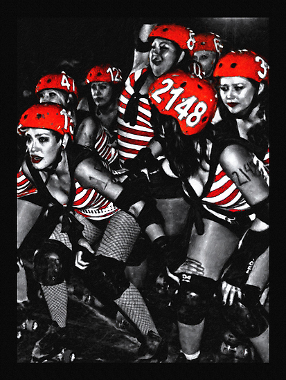 Roller Derby Girls by David Rozansky