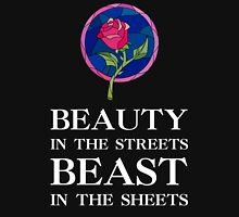 Beauty in the Streets, Beast in the Sheets WHITE FONT Tank Top