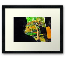 Woman at work ... Framed Print
