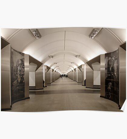Sretenskiy Bulvar Metro Station, Moscow Poster