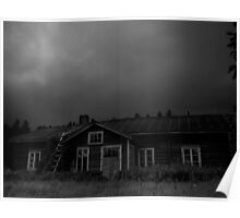 An Abandoned House Awaits The Storm Poster