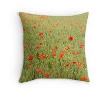 Poppies No.1 Throw Pillow