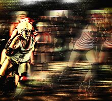 Roller Derby Girls II by David Rozansky