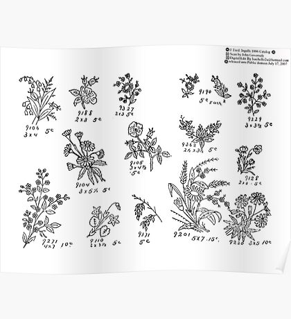 New Sample Book of Our Artistic Perforated Parchment Stamping Patterns Kate Greenaway, John Frederick Ingalls 1886 0160 Poster