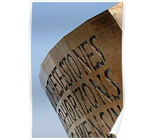 Cardiff bay, millennium centre, Wales, UK Poster