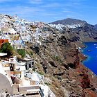 The village of Oia,at Santorini by DimitriS-Gr