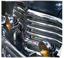 Vintage car chrome glamour Poster