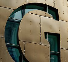 Close up of Letter G, Cardiff bay, millennium centre, Wales, UK by buttonpresser