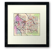 A Good Girl Framed Print