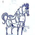 War Horse Doodle by Ben Cresswell