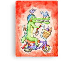 Cruising Croc Canvas Print