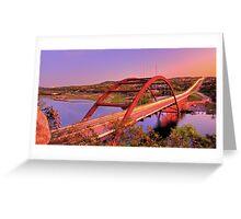 Austins 360 Bridge at Dusk Greeting Card