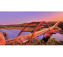 Austins 360 Bridge at Dusk Photographic Print