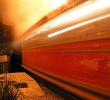 Talyllyn Railway - Tywyn Wharf Station at Night by Adam Robbins