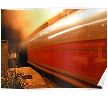 Talyllyn Railway - Tywyn Wharf Station at Night Poster