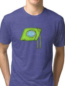 Funny Alien Monster Character Tri-blend T-Shirt