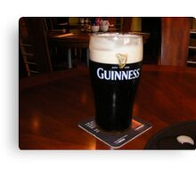 GLASS OF GUINESS Canvas Print