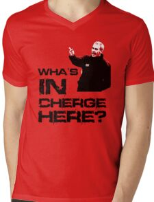 Wha's in cherge here? Mens V-Neck T-Shirt
