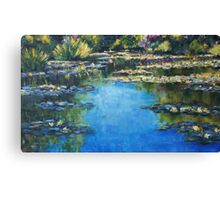Reflections & Lilies, Giverny Canvas Print