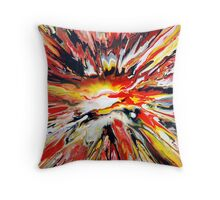 Colourful Abstract Spin Painting Throw Pillow