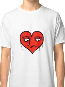 Sad Heart Drawing Classic T-Shirt