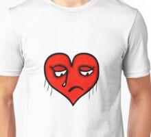 Sad Heart Drawing Unisex T-Shirt