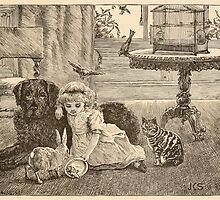 Five Mice in a Mouse Trap Laura Elisabeth Howe Richards and Kate Greenaway 1881 0189 Cat, Dog, and Rabbit by wetdryvac