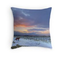 The Hunt Begins Throw Pillow