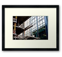Construction Prongs Framed Print