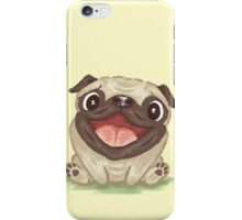Happy Pug iPhone Case/Skin