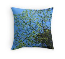 Impossibly Blue Throw Pillow