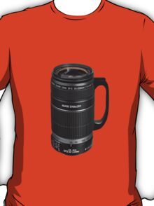❁◕‿◕❁  TELESCOPIC LENSE COFFEE CUP TEE SHIRT  ❁◕‿◕❁    ✾◕‿◕✾ T-Shirt