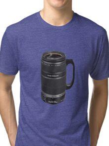 ❁◕‿◕❁  TELESCOPIC LENSE COFFEE CUP TEE SHIRT  ❁◕‿◕❁    ✾◕‿◕✾ Tri-blend T-Shirt
