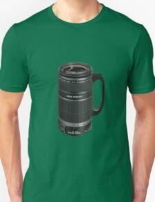❁◕‿◕❁  TELESCOPIC LENSE COFFEE CUP TEE SHIRT  ❁◕‿◕❁    ✾◕‿◕✾ Unisex T-Shirt