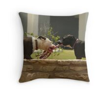 dogs of (tug-a) war: _haiku_ Throw Pillow