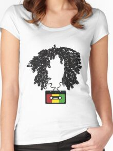Bob and Cassette Weave Women's Fitted Scoop T-Shirt