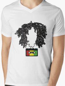 Bob and Cassette Weave Mens V-Neck T-Shirt