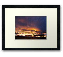 Tasmanian Sunset Framed Print